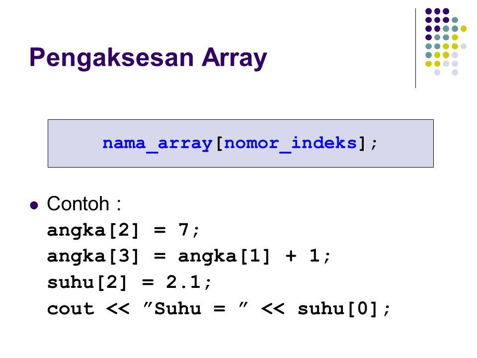 nama_array[nomor_indeks];